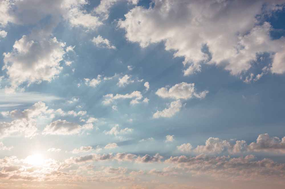 atmosphere blue bright cloudiness